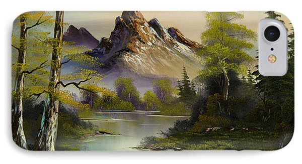 Mountain Evening IPhone Case by C Steele
