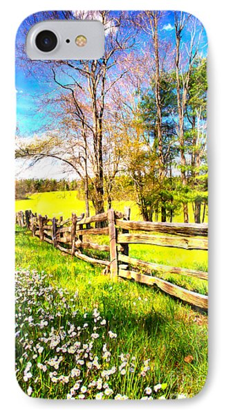 Mountain Wildflowers In The Blue Ridge II IPhone Case by Dan Carmichael