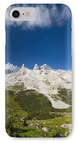 Mountains In The Alps Phone Case by Chevy Fleet