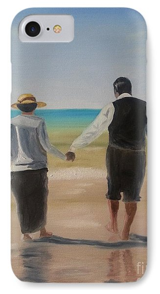Mr. Carson And Mrs. Hughes IPhone Case by Bev Conover