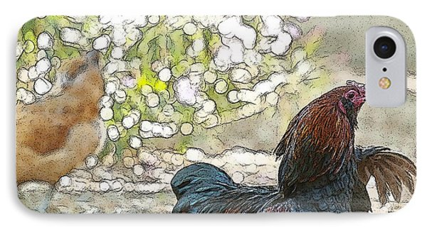 Mr. Rooster Struts Phone Case by Artist and Photographer Laura Wrede