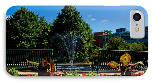 Msu Water Fountain IPhone 7 Case by John McGraw
