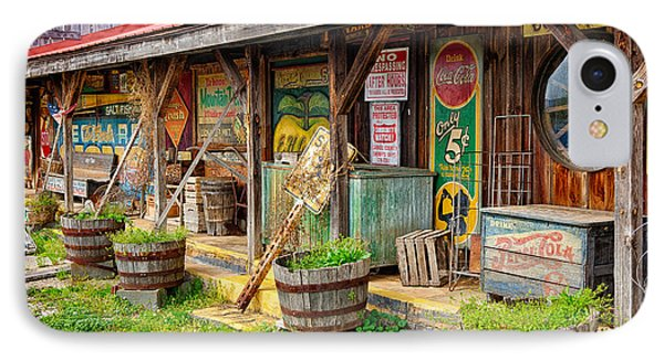 Mt. Airy Old Country Store I IPhone Case by Dan Carmichael
