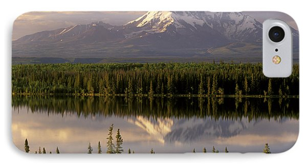 Mt Drum Over Willow Lake Wrangell-st IPhone Case by Calvin Hall