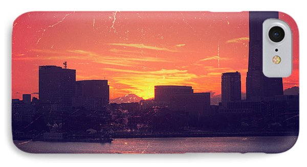 Mt Fuji At Sunset Over Yokohama Bay IPhone Case by Beverly Claire Kaiya