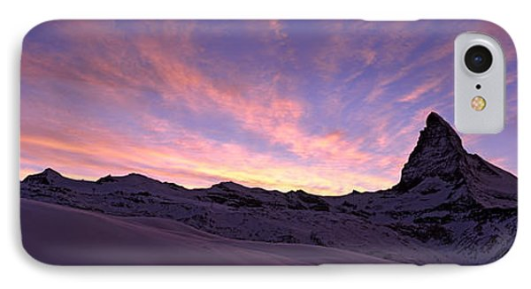 Mt Matterhorn At Sunset, Riffelberg IPhone Case by Panoramic Images