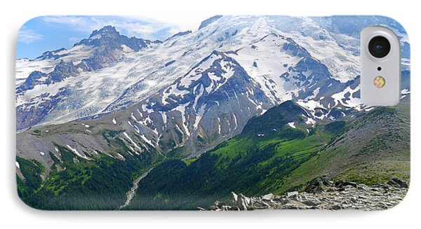 Mt Rainier From Sunrise IPhone Case by Scott Nelson