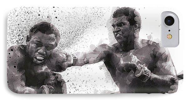 Muhammad Ali Vs Joe Frazier IPhone Case by Daniel Hagerman