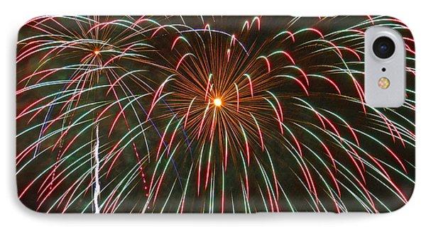 4th Of July Fireworks 16 Phone Case by Howard Tenke