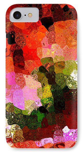 Multi Color Abstract Art Of Spots Phone Case by Mario Perez