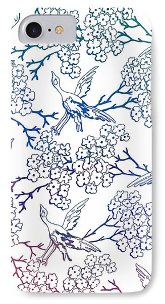 Multicolor Birds And Flowers IPhone Case by Dan Sproul