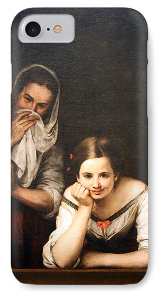 Murillo's Two Women At A Window IPhone Case by Cora Wandel
