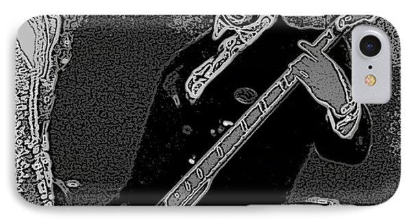 Bass Player Art Bw IPhone 7 Case by Lesa Fine