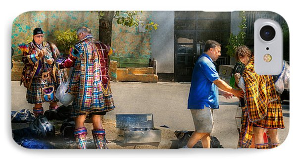 Music - Mummers Preperation IPhone Case by Mike Savad