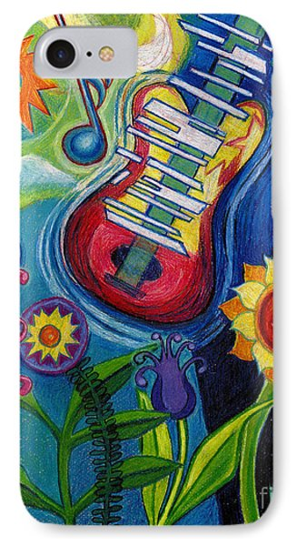 Music On Flowers IPhone Case by Genevieve Esson