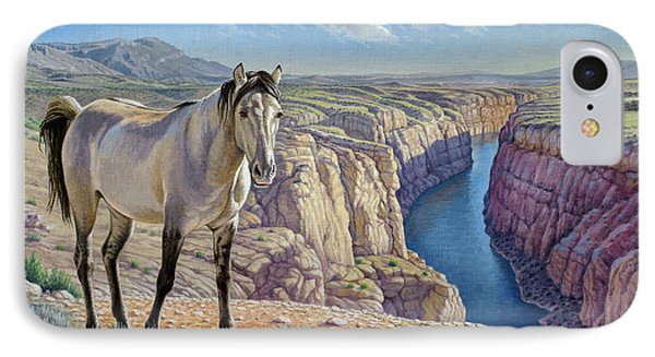 Mustang At Bighorn Canyon Phone Case by Paul Krapf