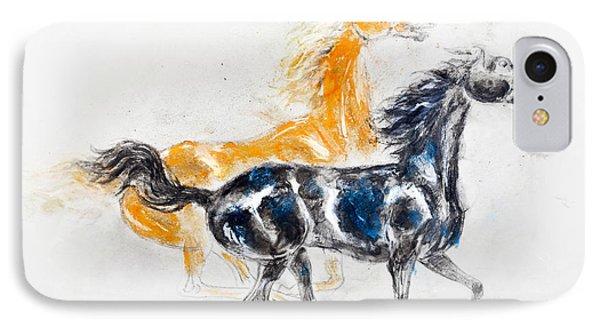 Mustangs Phone Case by Kurt Tessmann