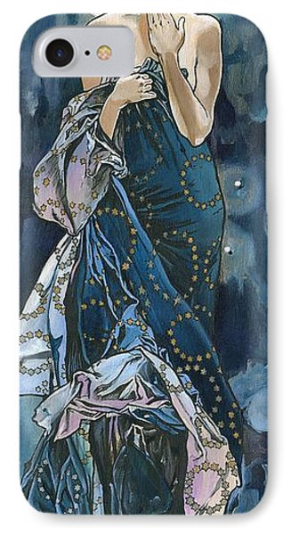 My Acrylic Painting As An Interpretation Of The Famous Artwork Of Alphonse Mucha - Moon - Phone Case by Elena Yakubovich