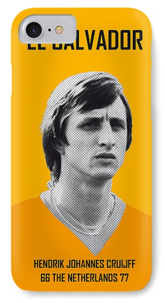 My Cruijff Soccer Legend Poster IPhone Case by Chungkong Art