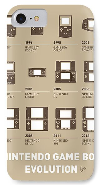 My Evolution Nintendo Game Boy Minimal Poster IPhone Case by Chungkong Art