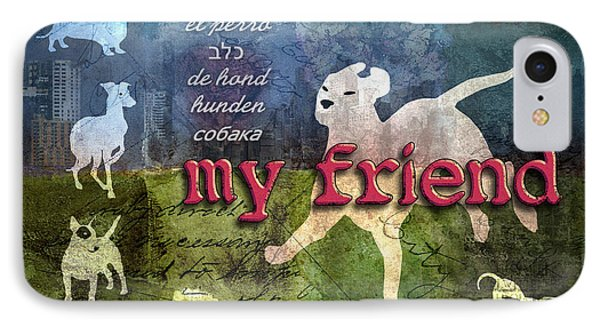 My Friend Dogs IPhone Case by Evie Cook