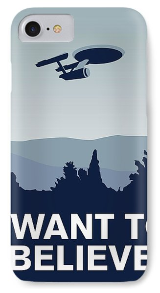 My I Want To Believe Minimal Poster-enterprice IPhone Case by Chungkong Art