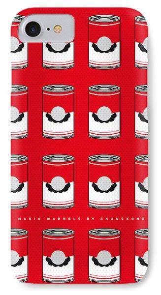 My Mario Warhols Minimal Can Poster-mario-2 IPhone Case by Chungkong Art