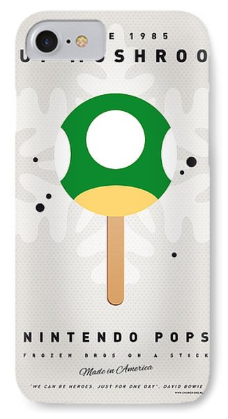 My Nintendo Ice Pop - 1 Up Mushroom IPhone Case by Chungkong Art