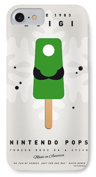 My Nintendo Ice Pop - Luigi IPhone Case by Chungkong Art