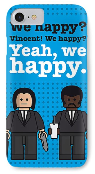 My Pulp Fiction Lego Dialogue Poster IPhone Case by Chungkong Art