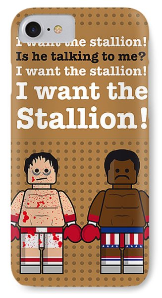 My Rocky Lego Dialogue Poster IPhone Case by Chungkong Art