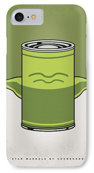 My Star Warhols Yoda Minimal Can Poster IPhone Case by Chungkong Art
