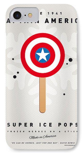 My Superhero Ice Pop - Captain America IPhone Case by Chungkong Art
