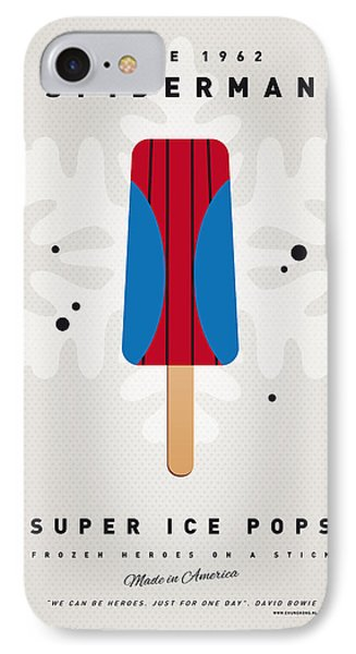 My Superhero Ice Pop - Spiderman IPhone 7 Case by Chungkong Art