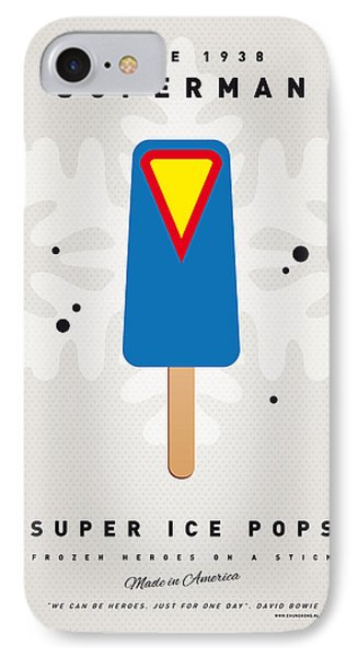 My Superhero Ice Pop - Superman Phone Case by Chungkong Art