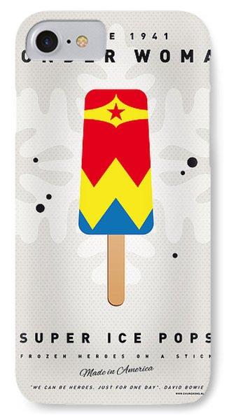 My Superhero Ice Pop - Wonder Woman IPhone Case by Chungkong Art