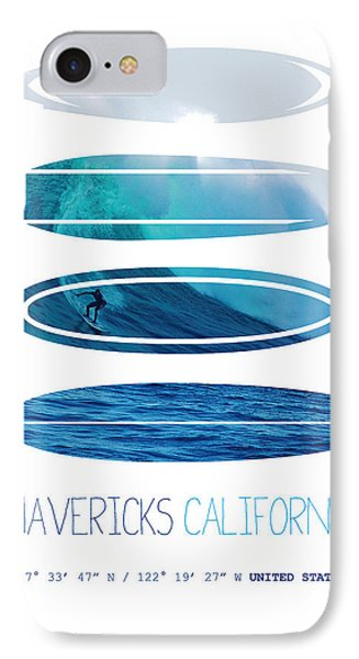 My Surfspots Poster-2-mavericks-california IPhone Case by Chungkong Art