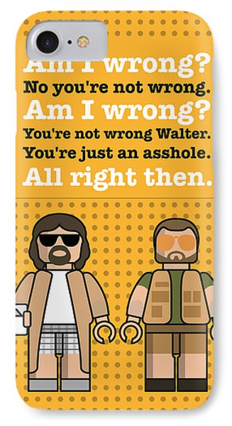 My The Big Lebowski Lego Dialogue Poster IPhone Case by Chungkong Art