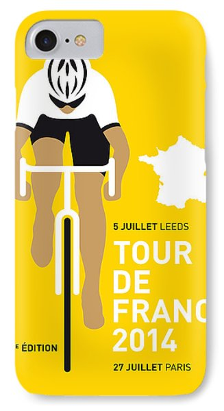 My Tour De France Minimal Poster 2014 IPhone Case by Chungkong Art