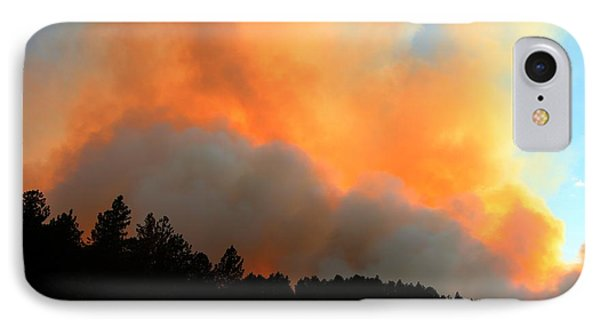 IPhone Case featuring the photograph Myrtle Fire Near Rifle Pit Road by Bill Gabbert