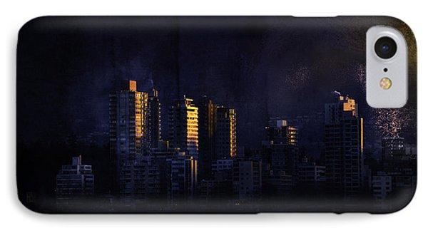 Mystic Orange Glowing Sunrise On Vancouver   IPhone Case by Peter v Quenter