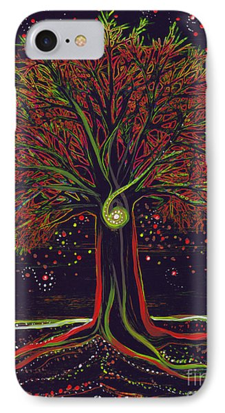 Mystic Spiral Tree Red By Jrr Phone Case by First Star Art
