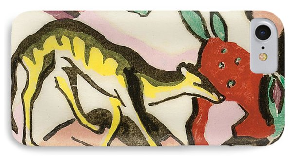 Mythical Animal  Phone Case by Franz Marc