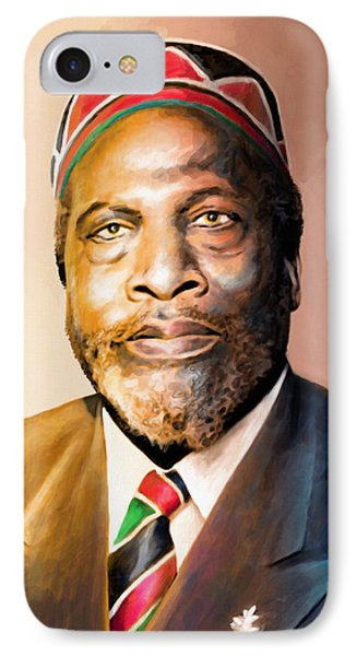 Mzee Jomo Kenyatta IPhone Case by Anthony Mwangi