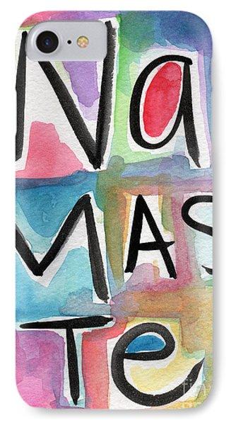 Namaste Watercolor IPhone Case by Linda Woods