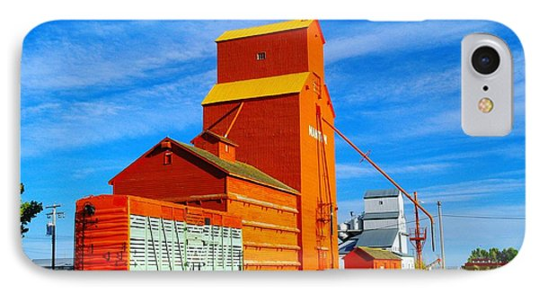 Nanton Grain Elevators  Phone Case by Jeff Swan