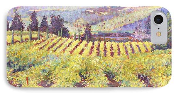 Napa Valley Vineyards IPhone Case by David Lloyd Glover
