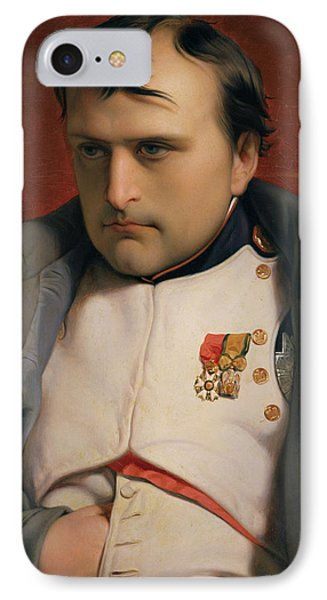 Napoleon In Fontainebleau IPhone Case by Hippolyte Delaroche