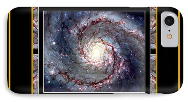 Nasa Whirlpool Galaxy Heaven Bless The Lord Praise And Exalt Him Above All Forever Phone Case by Rose Santuci-Sofranko