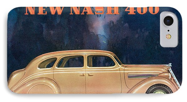 Nash 400 - Vintage Car Poster Phone Case by World Art Prints And Designs